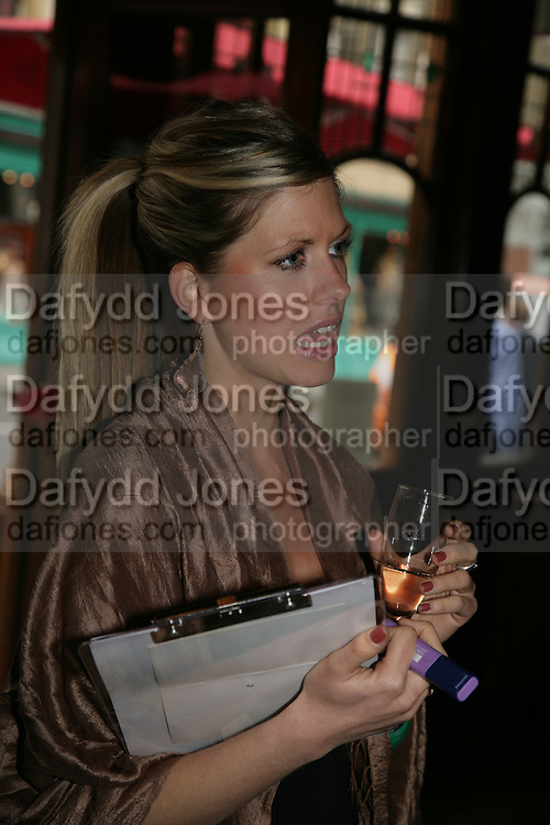 Alicia Barron, PJ's Annual Polo Party . Annual Pre-Polo party that celebrates the start of the 2007 Polo season.  PJ's Bar &amp; Grill, 52 Fulham Road, London, SW3. 14 May 2007. <br />