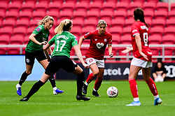 Gemma Evans of Bristol City is marked by Megan Connolly of Brighton and Hove Albion Women - Mandatory by-line: Ryan Hiscott/JMP - 07/09/2019 - FOOTBALL - Ashton Gate - Bristol, England - Bristol City Women v Brighton and Hove Albion Women - FA Women's Super League