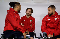 CARDIFF, WALES - Sunday, October 14, 2018: Wales' Joe Allen during a training session at the Vale Resort ahead of the UEFA Nations League Group Stage League B Group 4 match between Republic of Ireland and Wales. (Pic by David Rawcliffe/Propaganda)