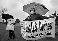 HORSHAM, PA - MARCH 29:  Members of Coalition for Peace Action along with Buddhist Monks march to the Horsham Drone Command Center to protest March 29, 2014 in Horsham, Pennsylvania. (Photo by William Thomas Cain/Cain Images)