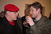DAN MITCHELL; PHIL ALLEN, George Condo - private view . Simon Lee Gallery, 12 Berkeley Street, London, 10 February 2014