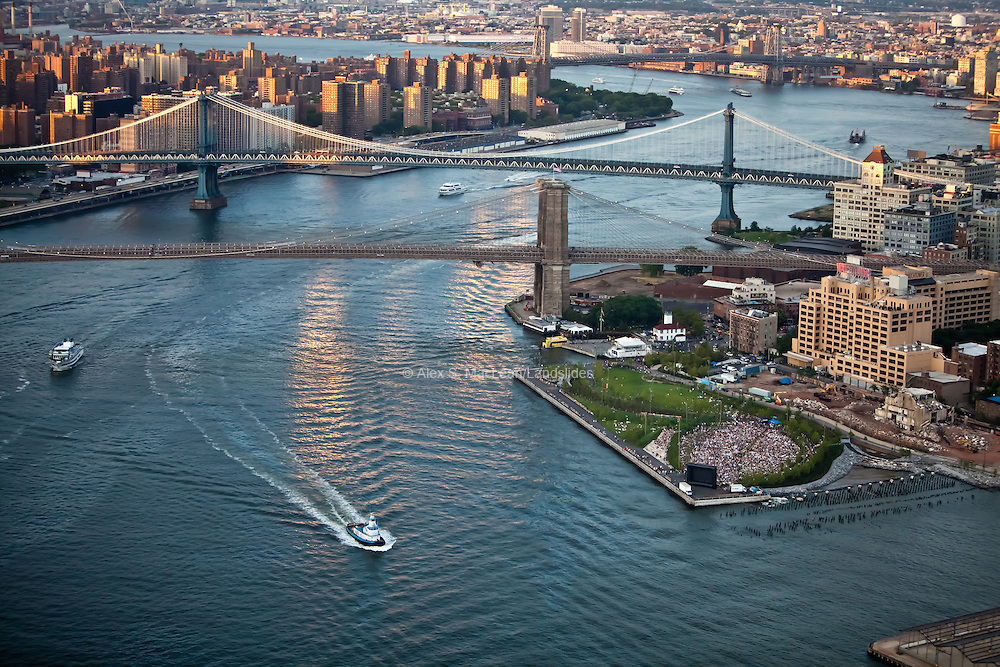 Pier 1 of Brooklyn Bridge Park on the Hudson River, designed by Michael Van Valkenburgh Associates