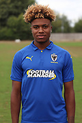 AFC Wimbledon midfielder Ossama Ashley (36) during the AFC Wimbledon 2018/19 official photocall at the Kings Sports Ground, New Malden, United Kingdom on 31 July 2018. Picture by Matthew Redman.
