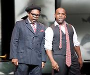 Charlie Parker's Yardbird<br /> by Daniel Schnyder <br /> librettist Bridgette A. Wimberly <br /> English National Opera <br /> at Hackney Empire, London, Great Britain <br /> 7th June 2017 <br /> <br /> <br /> Lawrence Brownlee as Charlie Parker <br /> <br /> <br /> Will Liverman as Dizzy Gillespie <br /> <br /> <br /> <br /> <br />  <br /> Photograph by Elliott Franks <br /> Image licensed to Elliott Franks Photography Services