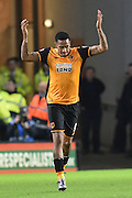 Hull City striker Abel Hernandez celebrates scoring goal to go 1 all  during the Sky Bet Championship match between Hull City and Reading at the KC Stadium, Kingston upon Hull, England on 16 December 2015. Photo by Ian Lyall.