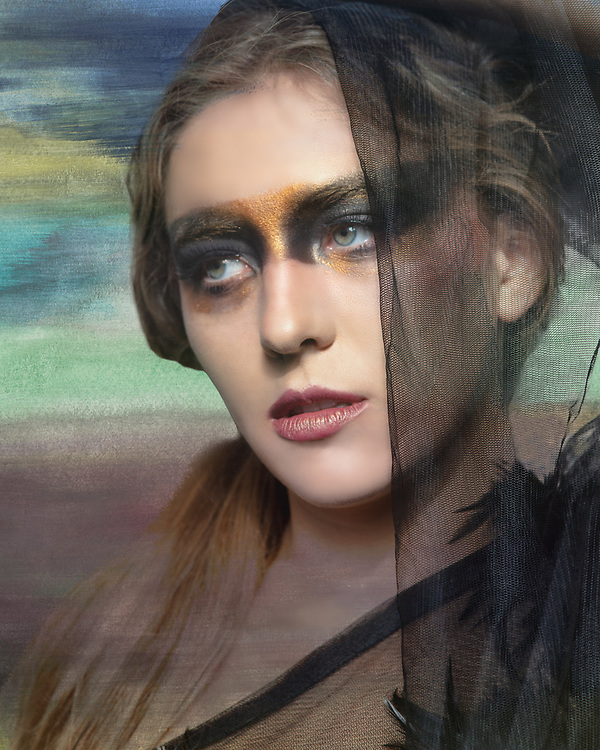 Composit fine art portrait of fashion model Brenna Smith by Gerard Harrison Image Theory Photoworks.