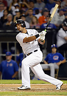 CHICAGO - JULY 27:  Jose Abreu #79 of the Chicago White Sox bats against the Chicago Cubs on July 27, 2017 at Guaranteed Rate Field in Chicago, Illinois.  (Photo by Ron Vesely) Subject:   Jose Abreu