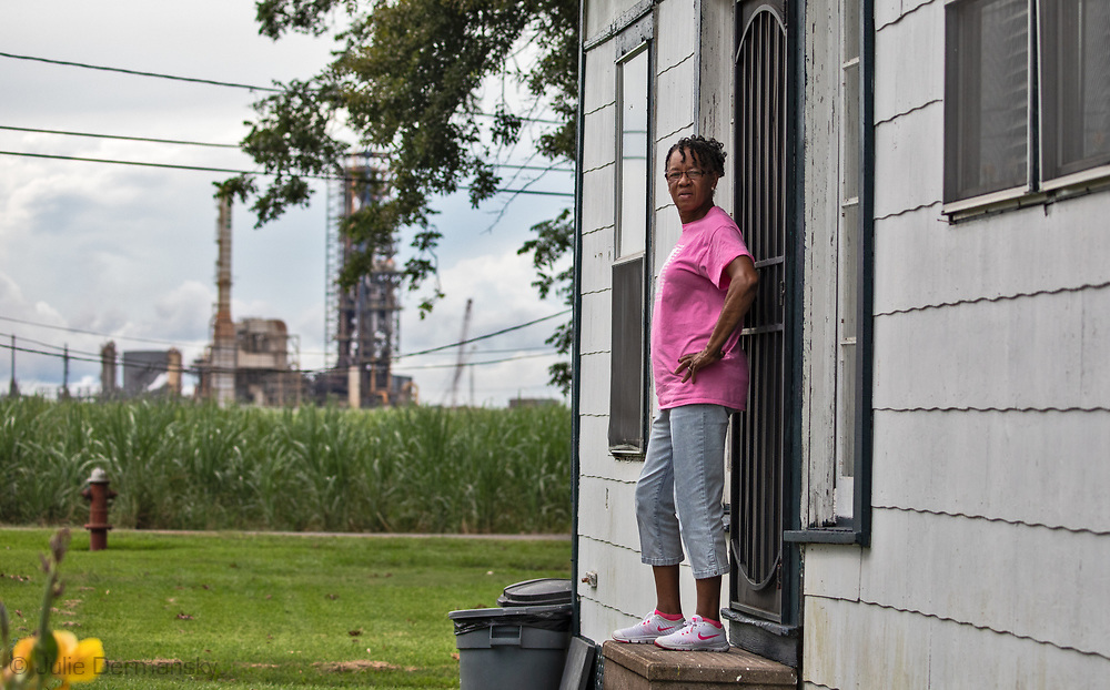Barbara Washington at her home next to Nucor facility in Convent, LA.