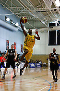 Guildford, England, Sunday 21st March 2010: Steven Gayle (9) leaps for a shot during the BBL Trophy Final between Cheshire Jets and Newcastle Eagles at the Guildford Spectrum, Surrey, UK (photo by Lee Irvine/SLIK images)