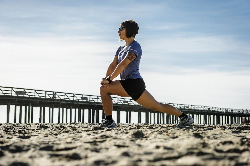 Triathlete Elle Washburn at Rio Del Mar Beach | Magellan GPS