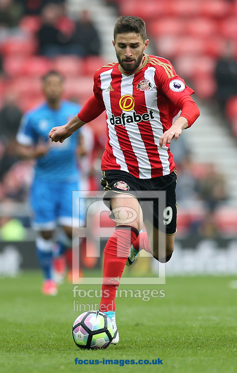 Fabio Borini of Sunderland during the Premier League match at the Stadium Of Light, Sunderland<br /> Picture by Simon Moore/Focus Images Ltd 07807 671782<br /> 29/04/2017