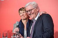 11 FEB 2017, BERLIN/GERMANY:<br /> Elke Buedenbender (L), Ehefrau von Steinmeier, und Frank-Walter Steinmeier (R), SPD, Kandidat fuer das Amt des Bundespraesidenten, waehrend einem Empfang der SPD anl. der Bundesversammlung, Westhafen Event und Convention Center<br />  IMAGE: 20170211-03-056<br /> KWYWORDS: Elke B&uuml;denbender