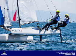 Genoa, Italy is hosting sailors for the third regatta of the 2019 Hempel World Cup Series from 15-21 April 2019. More than 700 competitors from 60 nations are racing across eight Olympic Events.&copy;JESUS RENEDO/SAILING ENERGY/WORLD SAILING<br /> 15 April, 2019.