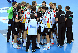 Team of Germany during 21st Men's World Handball Championship preliminary Group C match between FYR Macedonia and Germany, on January 21, 2009, in Arena Varazdin, Varazdin, Croatia. (Photo by Vid Ponikvar / Sportida)