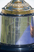 Henley on Thames, England, United Kingdom, Thursday, 04.07.19, inscription, detail , on the base, of the King's Cup, on loan to HRR from Australia, on the occasion of the Centenary, of the Peace Regatta 1919, Henley Royal Regatta,  Henley Reach, [©Karon PHILLIPS/Intersport Images]<br /> <br /> 09:39:30 1919 - 2019, Royal Henley Peace Regatta Centenary,