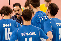 Zohar Bar Nrtzer, head coach of Israel during qualifications match for FIVB Men's World Championship 2014 between National team Slovenia and Israel in pool B on May 24, 2013 in SRC Stozice, Ljubljana, Slovenia. (Photo By Urban Urbanc / Sportida)