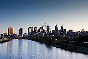The Philadelphia Skyline at dawn on January 18th 2012. (Photo By Brian Garfinkel)