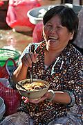 Cholon (Chinatown). Binh Tay Market. Pho (noodle soup).