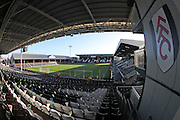 A general view of Craven Cottage before the EFL Sky Bet Championship match between Fulham and Brighton and Hove Albion at Craven Cottage, London, England on 2 January 2017.