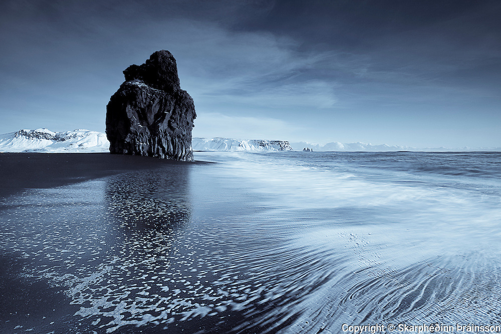 Arnardrangur in Reynisfjara, south coast Iceland