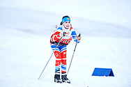 Schladming, Austria - 2017 March 20: Lidiya Mukhlinina from SO Russia competes in Cross Country Race while Special Olympics World Winter Games Austria 2017 in Ramsau am Dachstein on March 20, 2017 in Schladming, Austria.<br /> <br /> Mandatory credit:<br /> Photo by © Adam Nurkiewicz / Mediasport<br /> <br /> Adam Nurkiewicz declares that he has no rights to the image of people at the photographs of his authorship.<br /> <br /> Picture also available in RAW (NEF) or TIFF format on special request.<br /> <br /> Any editorial, commercial or promotional use requires written permission from the author of image.<br /> <br /> Image can be used in the press when the method of use and the signature does not hurt people on the picture.