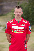 20150626 - OOSTENDE, BELGIUM: Oostende's Frederic Brillant pictured during the 2015-2016 season photo shoot of Belgian first league soccer team KV Oostende, Friday 26 June 2015 in Oostende. BELGA PHOTO KURT DESPLENTER