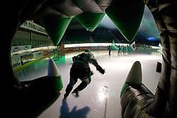 Petr Sachl (HDD Tilia Olimpija, #12) before ice-hockey match between HDD Tilia Olimpija and EHC Liwest Black Wings Linz in 18th Round of EBEL league, on November 5, 2010 at Hala Tivoli, Ljubljana, Slovenia. (Photo By Matic Klansek Velej / Sportida.com)