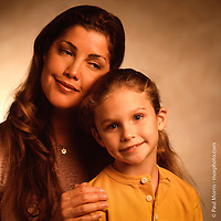 """""""Mother and Daughter"""", photographed for The Greater Miami Jewish Federation annual report."""