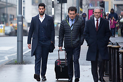 © Licensed to London News Pictures. 10/01/2019. Birmingham, West Midlands UK. ANTONIO BOPARAN (left), 31, arriving at Birmingham Magistrates court charged with causing death by dangerous driving. He was convicted of dangerous driving following a head-on collision in Sutton Coldfield, which left Cerys Edwards, then 11-months-old, with severe brain damage. She died in October 2015, and a post-mortem examination revealed the death was as a result of injuries suffered in the crash. Photo credit: Dave Warren/LNP