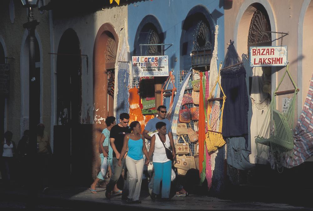 Shops in Praia Grande, Old Town, Sao Luis, Maranhao, Brazil