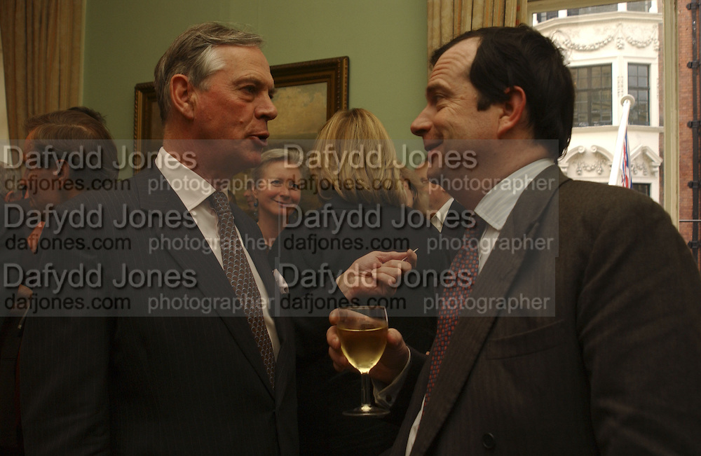 Brothers: Lord Astor of Hever and Hon Philip Astor, Loving Olivia: My Life with My Autistic Daughter by Liz Astor. English Speaking Union. London. 9 May 2006. ONE TIME USE ONLY - DO NOT ARCHIVE  © Copyright Photograph by Dafydd Jones 66 Stockwell Park Rd. London SW9 0DA Tel 020 7733 0108 www.dafjones.com