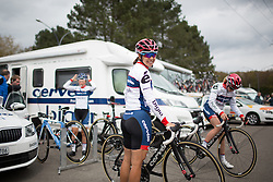 Carmen Small (USA) of Cervélo-Bigla Cycling Team smiles before the start of the first, 106.9km road race stage of Elsy Jacobs - a stage race in Luxembourg, in Steinfort on April 30, 2016