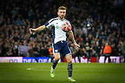James Morrison during the The FA Cup match between Aston Villa and West Bromwich Albion at Villa Park, Birmingham, England on 7 March 2015. Photo by Adam Rivers.