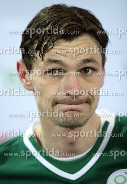 Milivoje Novakovic (11) after the UEFA Friendly match between national teams of Slovenia and Denmark at the Stadium on February 6, 2008 in Nova Gorica, Slovenia. Slovenia lost 2:1. (Photo by Vid Ponikvar / Sportal Images).