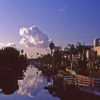 Sunrise in Venice Beach Grand Canal in Los Angeles