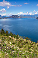 A View of Okanagan Lake looking towards Vernon from the Fintry area of British Columbia, Canada