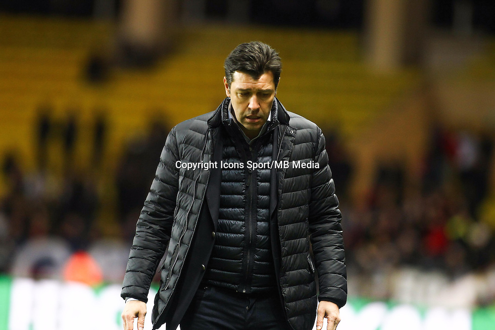 Hubert FOURNIER - 01.02.2015 - Monaco / Lyon - 23eme journee de Ligue 1 -<br />Photo : Serge Haouzi / Icon Sport