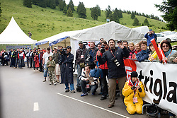 Photographers at finish line at hill Krvavec at 3rd stage of Tour de Slovenie 2009 from Lenart to Krvavec, 175 km, on June 20 2009, Slovenia. (Photo by Vid Ponikvar / Sportida)