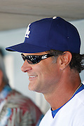 LOS ANGELES, CA - JUNE 30:  Don Mattingly #8 of the Los Angeles Dodgers smiles as he talks to the media before the game against the New York Mets on Saturday, June 30, 2012 at Dodger Stadium in Los Angeles, California. The Mets won the game in a 5-0 shutout. (Photo by Paul Spinelli/MLB Photos via Getty Images) *** Local Caption *** Don Mattingly