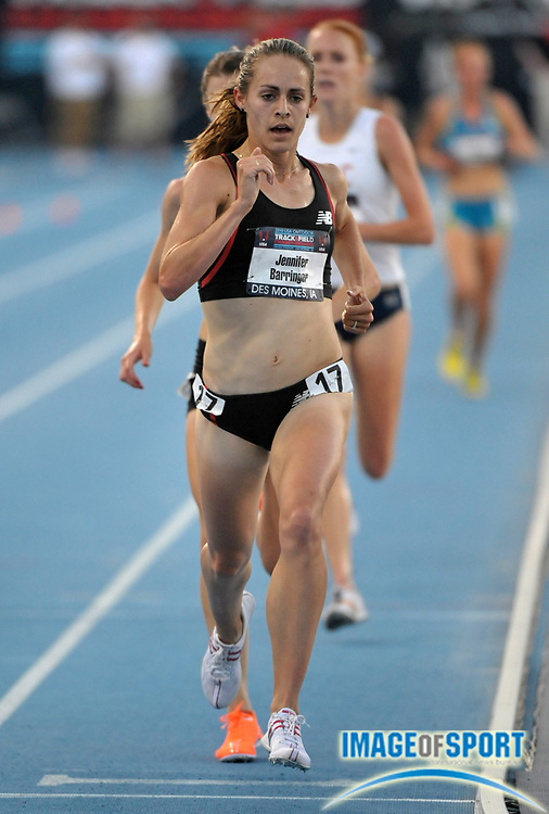 Jun 25, 2010; Des Moines, IA, USA; Jenny Barringer was third in the women's 5,000m in 15:33.33 in the USA Track & Field Championships at Drake Stadium. Mandatory Credit: Kirby Lee/Image of Sport-US PRESSWIRE