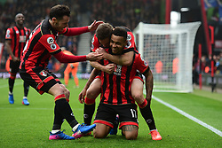 Joshua King of Bournemouth celebrates with 'Dan Gosling of Bournemouth - Mandatory by-line: Alex James/JMP - 11/03/2017 - FOOTBALL - Vitality Stadium - Bournemouth, England - Bournemouth v West Ham United - Premier League