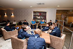 Players at the reception of Slovenian footballers before going on friendly match in Algeria, on 3rd March 2014, in Brdo pri Kranju, Slovenia. Photo by Urban Urbanc / Sportida.com