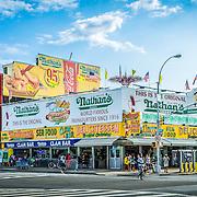 Nathan's Famous on Coney Island, NY. Photo by Alabastro Photography.