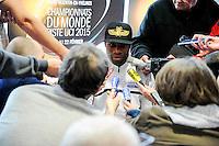 Gregory Bauge - 27.01.2015 - Conference de presse Equipe de France de cyclisme su piste <br /> Photo : Anthony Dibon / Icon Sport