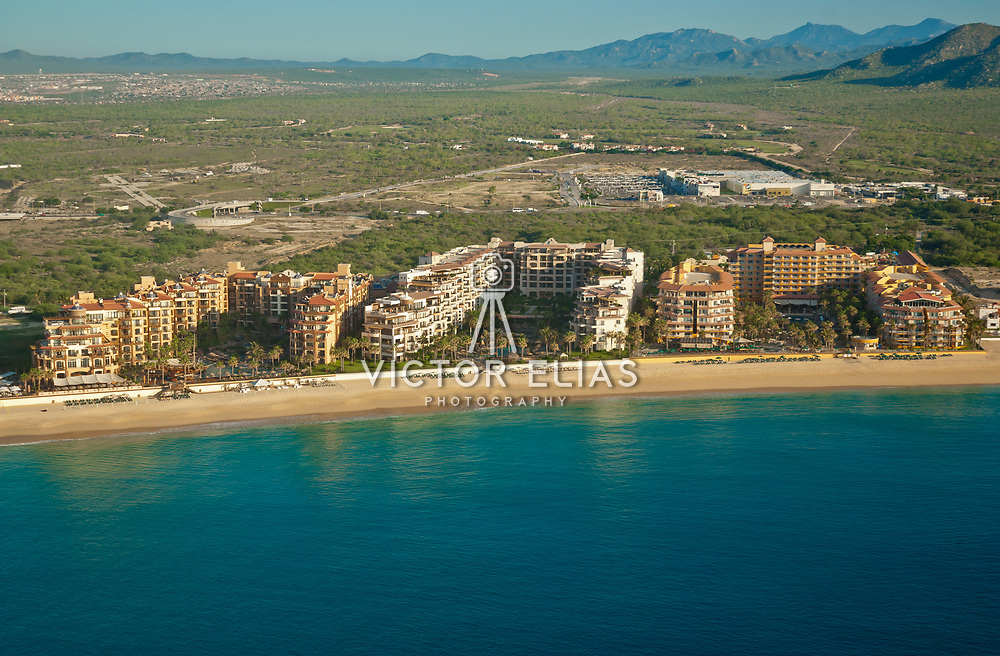 Aerial view of Villagroup Resorts in Cabo San Lucas. Baja California Sur, Mexico.