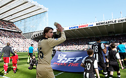 NEWCASTLE-UPON-TYNE, ENGLAND - Sunday, April 1, 2012: Newcastle United's goalkeeper Tim Krul before the Premiership match against Liverpool at St James' Park. (Pic by Vegard Grott/Propaganda)
