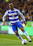 Jordan Obita on the ball during the Sky Bet Championship match between Reading and Derby County at the Madejski Stadium, Reading, England on 15 September 2015. Photo by David Charbit.