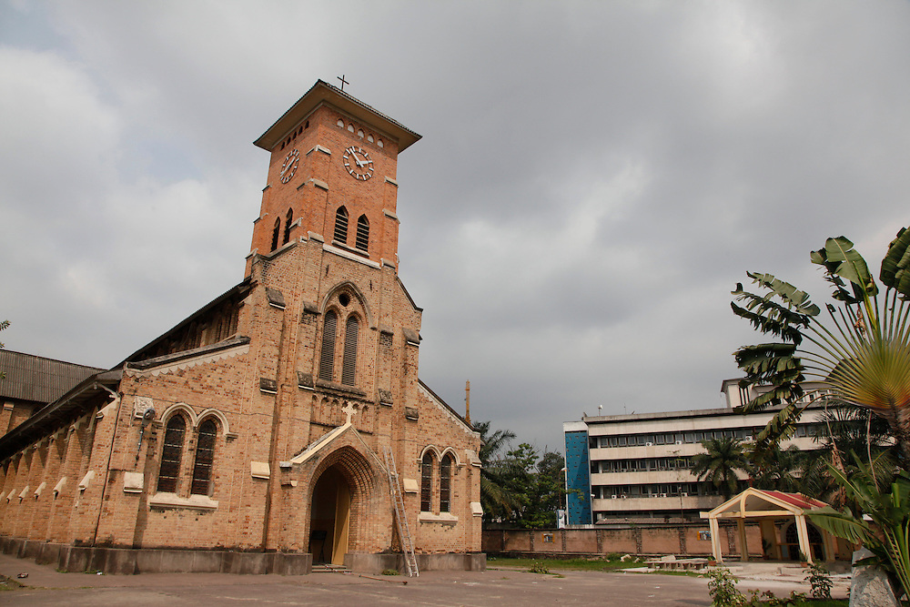 Cathedral St Anne around the Place De La Gare, La Ville, Kinshasa, DRC...© Zute Lightfoot.www.lightfootphoto.com