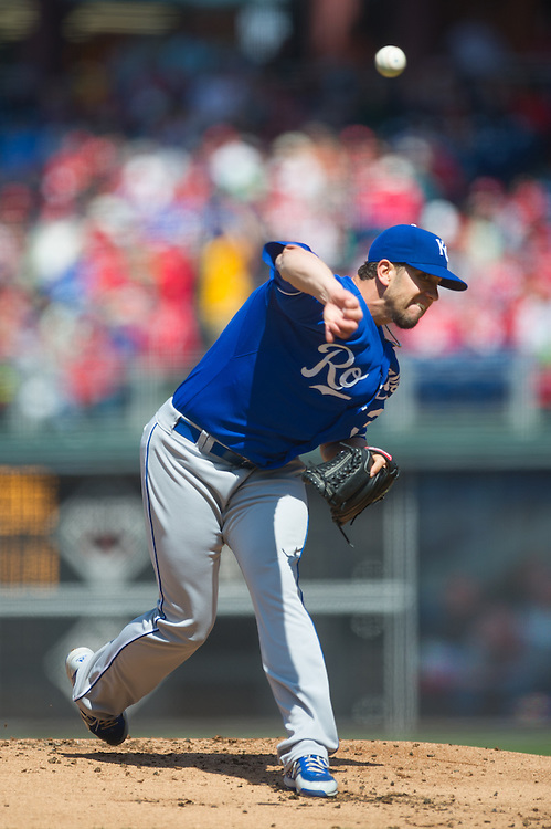PHILADELPHIA, PA - APRIL 7: James Shields #33 of the Kansas City Royals pitches during the game against the Philadelphia Phillies at Citizens Bank Park on April 7, 2013 in Philadelphia, Pennsylvania. (Photo by Rob Tringali) *** Local Caption *** James Shields