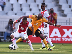 Cape Town-180512   Kaizer Chiefs  defender Willard  Katsande challenges  Fagrie Lakay   of Ajax Cape Town in the last game of the PSL at Cape Town stadium.photographer:Phando Jikelo/African News Agency/ANA